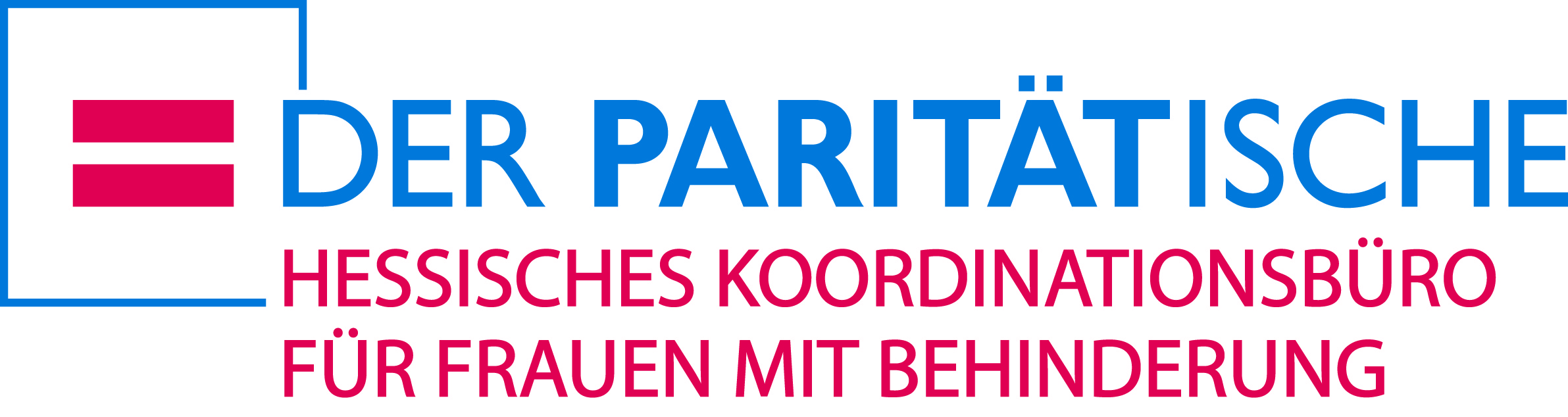 Paritaetischer Wohlfahrtsverband, Landesverband - Hessen e. V. - Hessisches Koordinationsbüro für Frauen mit Behinderung-Logo
